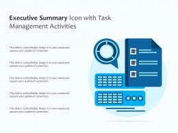 Executive Summary Icon With Task Management Activities