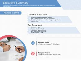 Executive Summary Introduction Ppt Powerpoint Presentation Show Gallery