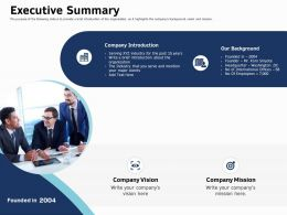 Executive Summary Introduction Ppt Powerpoint Presentation Slides Design Ideas