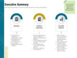 Executive Summary Pain Ppt Powerpoint Presentation Ideas Files
