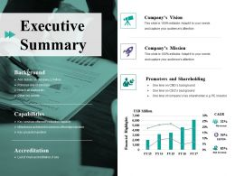 Executive Summary Ppt File Elements