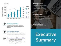 Executive Summary Ppt File Example Topics