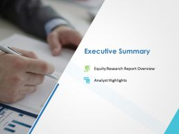 Executive Summary Ppt Powerpoint Presentation Visual Aids Professional