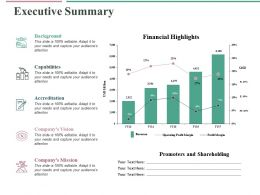 Executive Summary Ppt Professional Display
