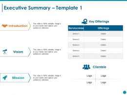 Executive Summary Ppt Styles File Formats