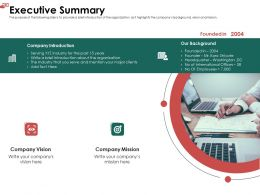 Executive Summary Serve Ppt Powerpoint Presentation File Example File