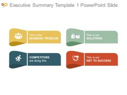 Executive Summary Template1 Powerpoint Slide