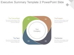 Executive Summary Template2 Powerpoint Slide