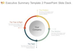 Executive Summary Template2 Powerpoint Slide Deck