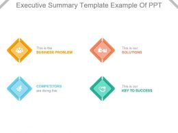 Executive Summary Template Example Of Ppt