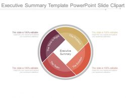 Executive Summary Template Powerpoint Slide Clipart