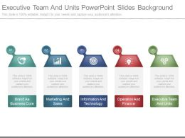 Executive Team And Units Powerpoint Slides Background