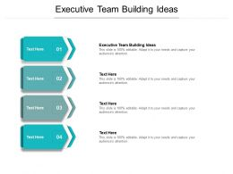 Executive Team Building Ideas Ppt Powerpoint Presentation Gallery Icon Cpb