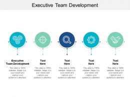Executive Team Development Ppt Powerpoint Presentation File Objects Cpb