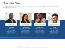 Executive Team RCM S W Bid Evaluation Ppt Slides Designs