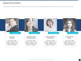 Executive Team Sophia Christopher Ppt Powerpoint Presentation Visual Aids Outline