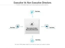 Executive Vs Non Executive Directors Ppt Powerpoint Presentation Gallery Deck Cpb