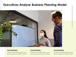Executives Analyze Business Planning Model