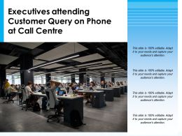 Executives Attending Customer Query On Phone At Call Centre