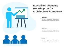 Executives Attending Workshop On CX Architecture Framework