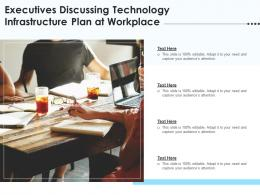 Executives Discussing Technology Infrastructure Plan At Workplace