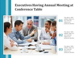 Executives Having Annual Meeting At Conference Table