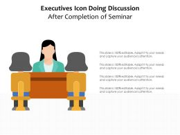 Executives Icon Doing Discussion After Completion Of Seminar