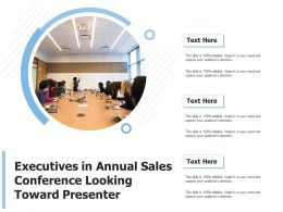 Executives In Annual Sales Conference Looking Toward Presenter