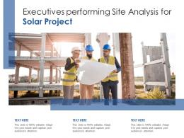 Executives Performing Site Analysis For Solar Project
