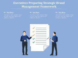 Executives Preparing Strategic Brand Management Framework