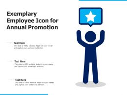 Exemplary Employee Icon For Annual Promotion