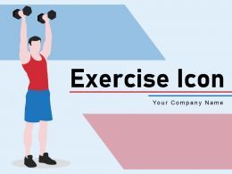 Exercise Icon Individual Person Instructing Treadmill Strengthening