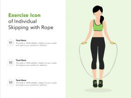 Exercise Icon Of Individual Skipping With Rope