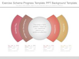 Exercise Scheme Progress Template Ppt Background Template