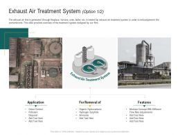 Exhaust Air Treatment System Application Ppt Powerpoint Presentation Icon Microsoft