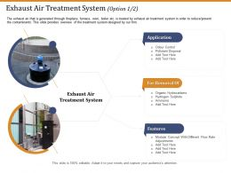 Exhaust Air Treatment System Features Ppt Ideas Topics