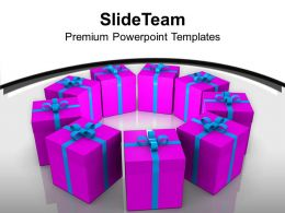 Exhibition Of Gifts Celebration PowerPoint Templates PPT Themes And Graphics 0113
