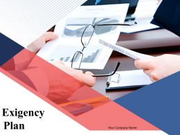 Exigency Plan Powerpoint Presentation Slides