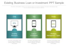 Existing Business Loan Or Investment Ppt Sample