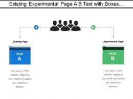 Existing Experimental Page A B Test With Boxes And Persons