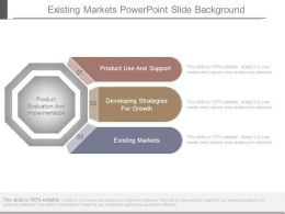 Existing Markets Powerpoint Slide Background