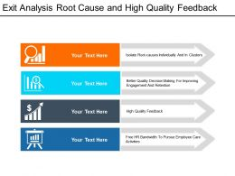 Exit Analysis Root Cause And High Quality Feedback