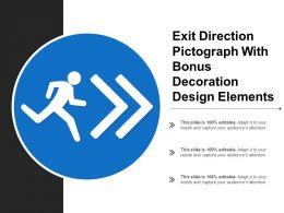 Exit Direction Pictograph With Bonus Decoration Design Elements