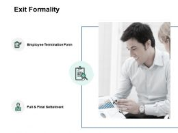 Exit Formality Checklist Ppt Powerpoint Presentation Pictures Summary