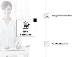 Exit Formality Employee Termination Form Ppt Powerpoint Presentation Portfolio Icons