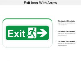 Exit Icon With Arrow