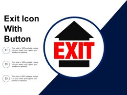 Exit Icon With Button