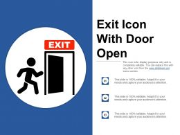 Exit Icon With Door Open