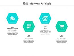 Exit Interview Analysis Ppt Powerpoint Presentation Styles Clipart Images Cpb