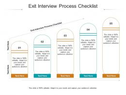 Exit Interview Process Checklist Ppt Powerpoint Presentation Styles Outfit Cpb